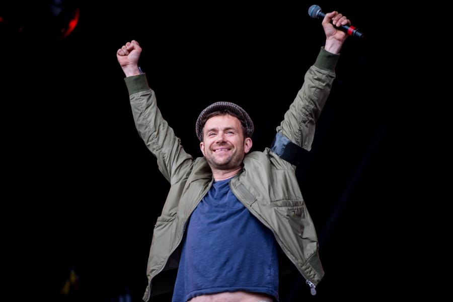 Damon Albarn na Glastonbury 2016