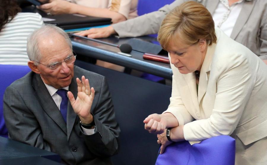 Wolfgang Schaeuble i Angela Merkel