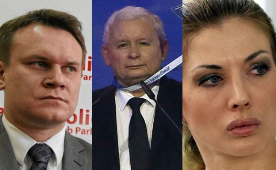 Dominik Tarczyński, Jarosaław Kaczyński i Izabella Łukomska-Pyżalska