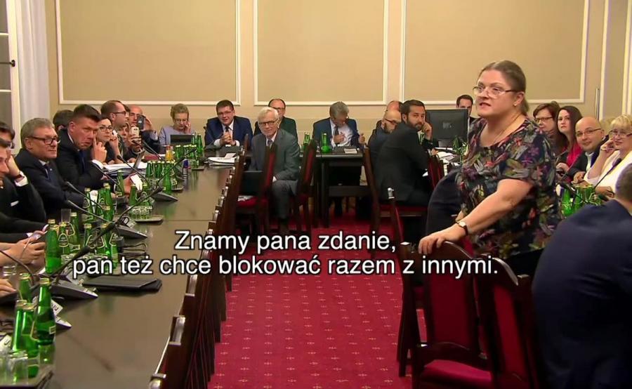 Posłanka Krystyna Pawłowicz i sędzia Waldemar Żurek starli się w czasie obrad sejmowej komisji
