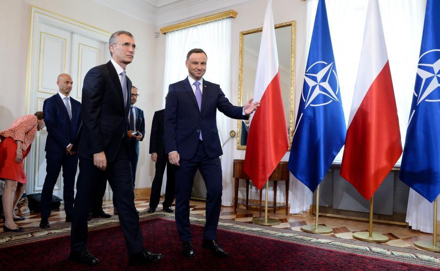 Prezydent Andrzej Duda spotkał się z sekretarzem generalnym Sojuszu Północnoatlantyckiego Jensem Stoltenbergiem