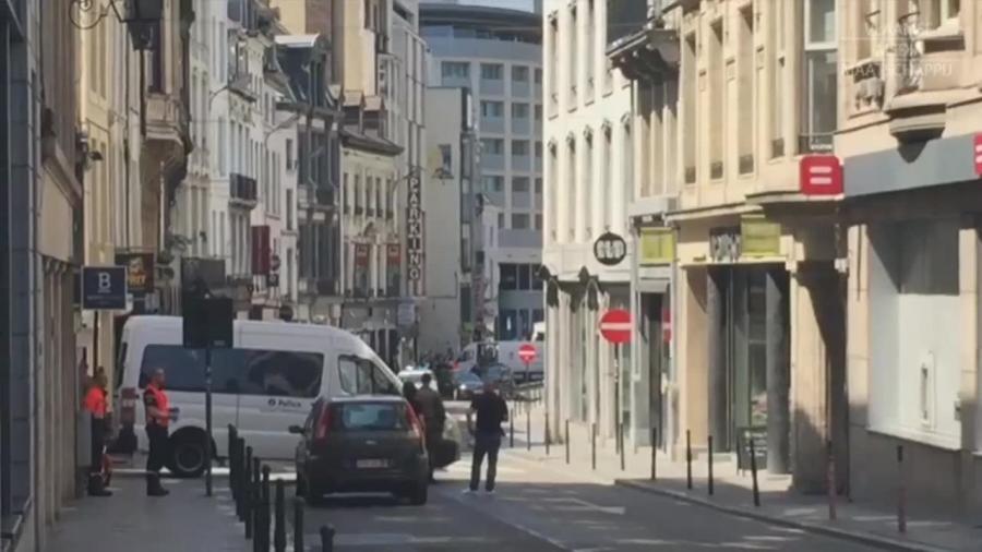 Obława na podejrzanego mężczyznę w Brukseli