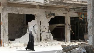 Zniszczone syryjskie miasto
