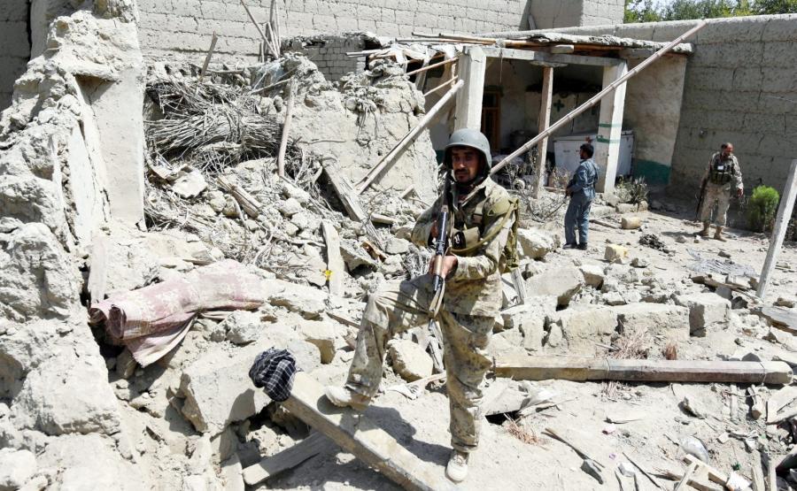 Afganistan. Żołnierze po wyparciu bojowników Państwa Islamskiego z jednej z miejscowości prowincji Nangarhar