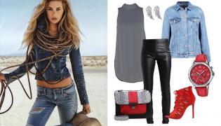 STYLIZACJE z dżinsową kurtką