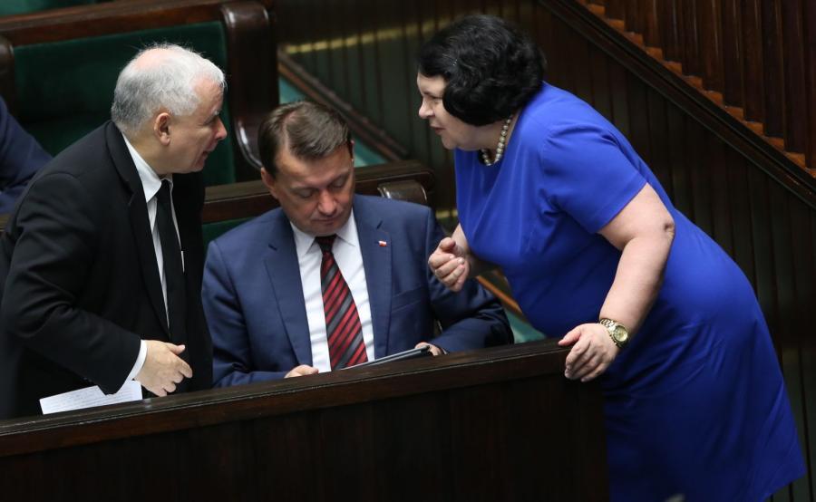 Jarosław Kaczyński, Mariusz Błaszczak i Anna Sobecka