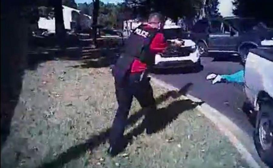 Charlotte: Kadr wideo z akcji policji