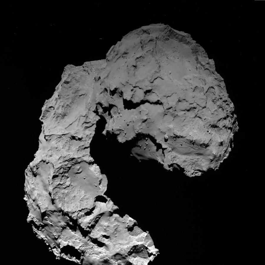 Kometa 67P/Czuriumow-Gierasimienko - zdjęcie wykonane przez sondę Rosetta