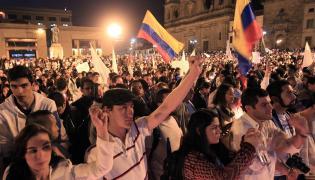 Zwolennicy podpisanego w Kolumbii porozumienia