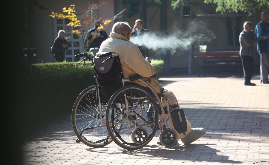 Pensjonariusz domu opieki