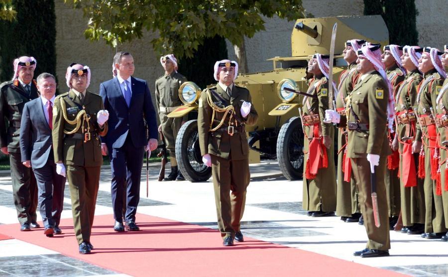 Prezydent Andrzej Duda i król Abdullah II