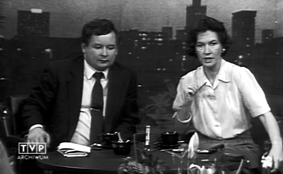 Anna Grzeszczuk-Gałązka i Jarosław Kaczyński w programie \
