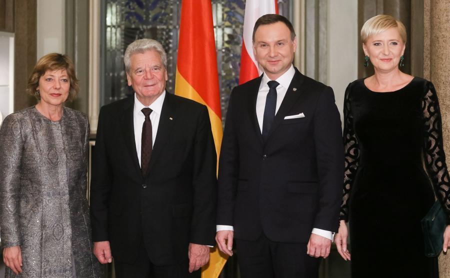 Daniela Schadt, Joachim Gauck, Andrzej Duda, Agata Kornhauser-Duda