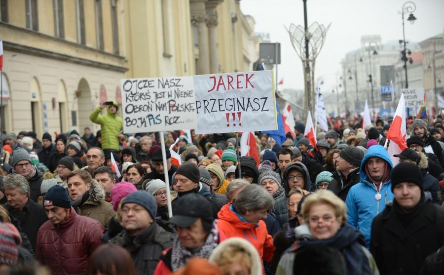Protest przeciw rządom PiS