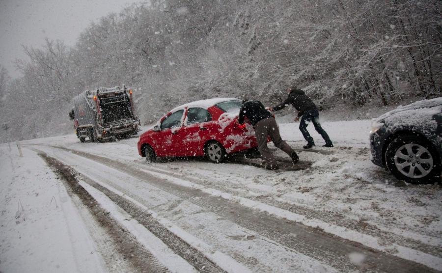 Śnieżyca na Węgrzech