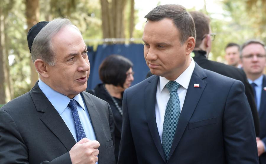 Andrzej Duda oraz premier Izraela Benjamin Netanyahu