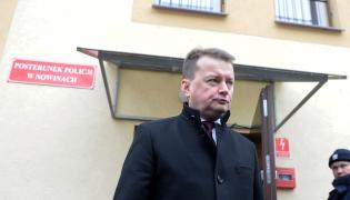 Minister spraw wewnętrznych i administracji Mariusz Błaszczak podczas otwarcia posterunku policji w gminie Sitkówka-Nowiny