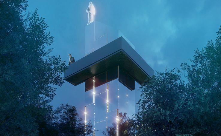 Projekt wieży w Mielcu studia Tynk Tank