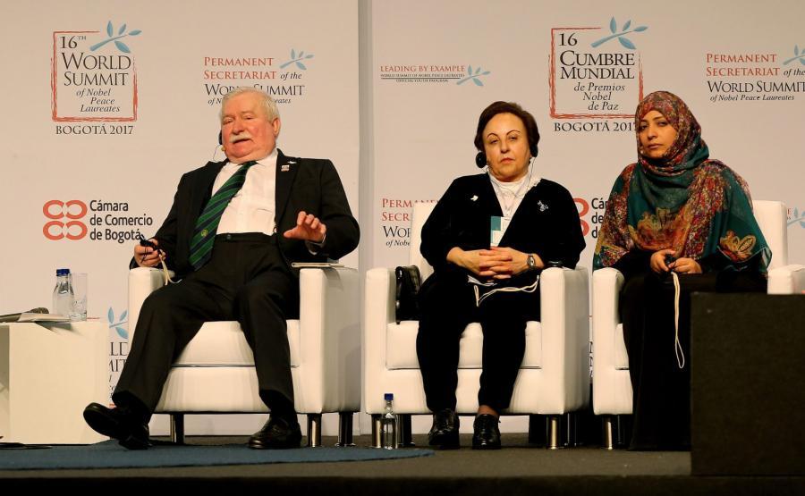 Lech Wałęsa w Bogocie
