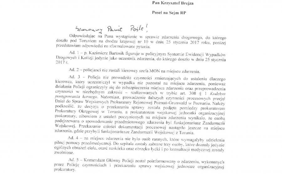 Pismo z KGP