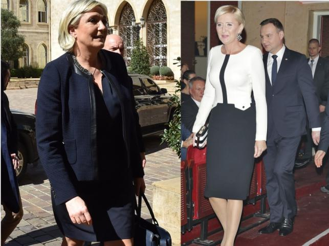 Agata Kornhauser-Duda i Marine Le Pen