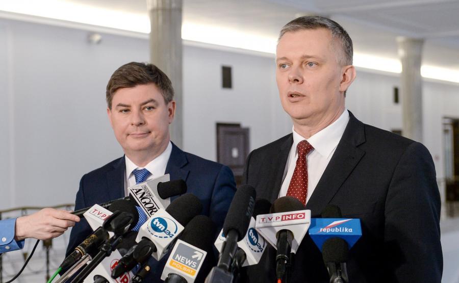 Jan Grabiec i Tomasz Siemoniak