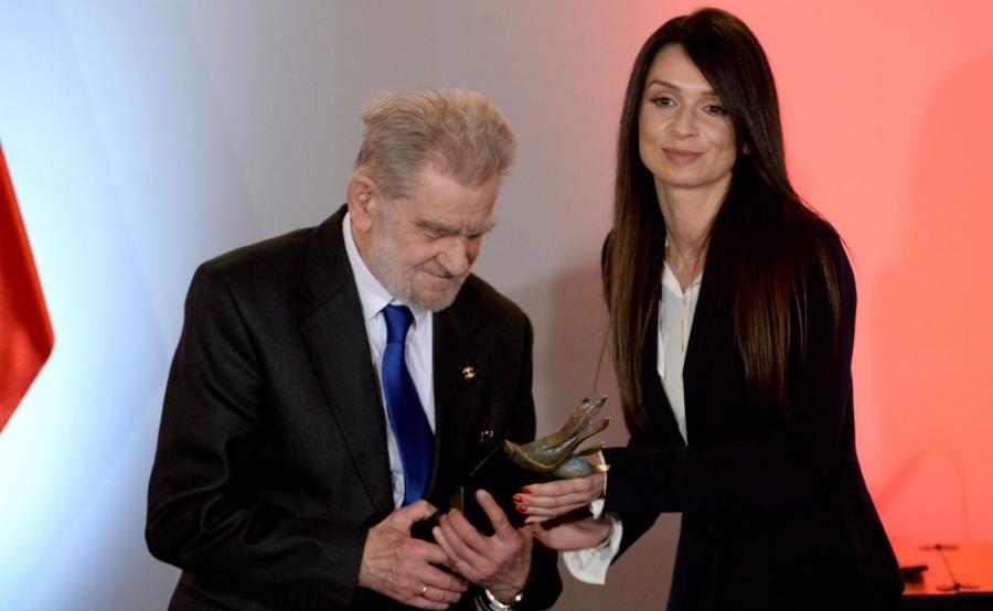 Andrzej Gwiazda i Marta Kaczyńska