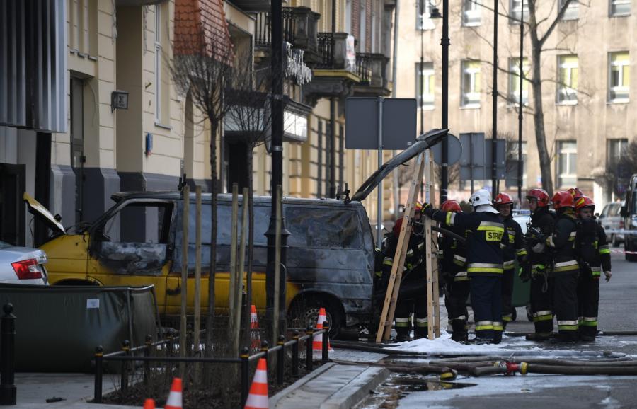 Auto po wybuchu